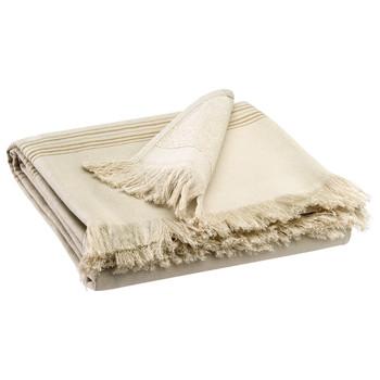 Maison & Déco Serviettes et gants de toilette Vivaraise CANCUN Couleur lin