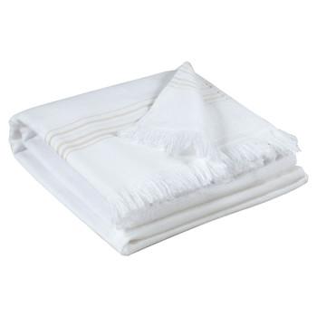 Maison & Déco Serviettes et gants de toilette Vivaraise CANCUN Blanc