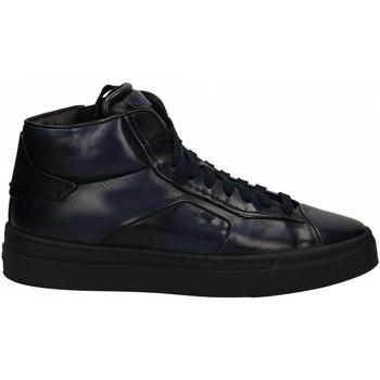 Chaussures Homme Baskets montantes Santoni POLAC.8F.ZIP GOOSE blue