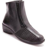 Chaussures Femme Bottines Pediconfort Boots extensibles noir