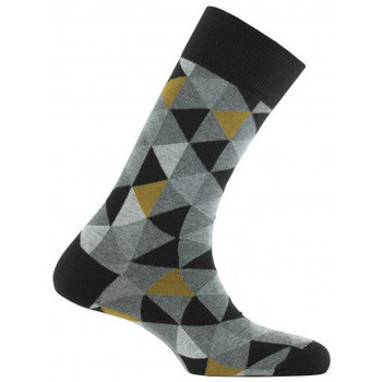 Accessoires Homme Chaussettes Kindy Mi-chaussettes all over triangles MADE IN FRANCE Noir