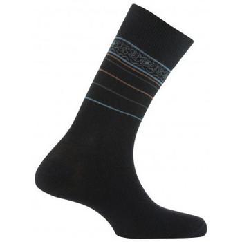 Accessoires Homme Chaussettes Kindy Mi-chaussettes jersey frise sur rayures Noir