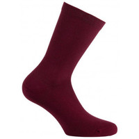 Accessoires Femme Chaussettes Kindy Mi-chaussettes unies en pur coton biologique pour Femme Bordeaux
