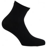 Accessoires Femme Chaussettes Kindy Socquettes unies en pur coton biologique pour Femme Noir