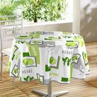 Maison & Déco Nappe 1001Kdo Pour La Maison Nappe ronde Lemon vert