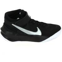 Chaussures Enfant Basketball Nike Team Hustle D 10 Flyease Jr Noir Blanc DD7303-004 Noir