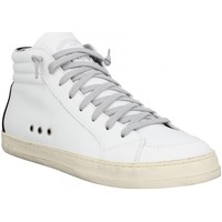 Chaussures Homme Baskets montantes P448 Skate cuir velours Homme White Black Blanc