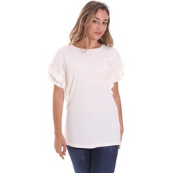 Vêtements Femme T-shirts manches courtes Fracomina FS21ST3012J400N5 Blanc