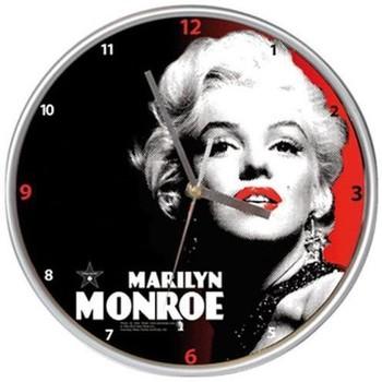 Maison & Déco Horloges Marilyn Monroe Pendule murale en métal Marilyn Noir