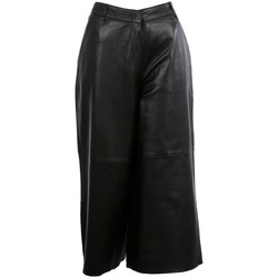 Vêtements Femme Pantacourts Oakwood Jupe culotte en cuir  Meghan ref 54145 noire Noir