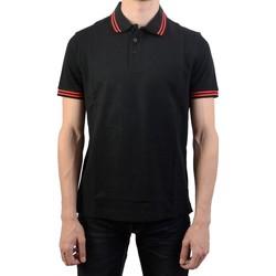 Vêtements Homme Polos manches courtes Lotto Classica PQ Noir/Rouge