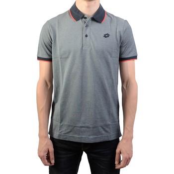 Vêtements Homme Polos manches courtes Lotto Firenze PQ Bleu/Rouge