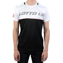 Vêtements Homme T-shirts manches courtes Lotto Logo V Tee PL Blanc/Noir