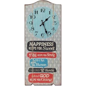 Maison & Déco Horloges Retro Pendule  en bois 70 cm Gris