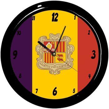 Maison & Déco Horloges Pays Du Monde Pendule ronde Andorre Cbkreation Multicolore