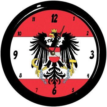 Maison & Déco Horloges Pays Du Monde Pendule ronde Autriche Cbkreation Rouge