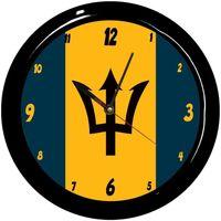 Maison & Déco Horloges Pays Du Monde Pendule ronde Barbade Cbkreation Multicolore