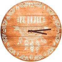 Maison & Déco Horloges Indiens D'amérique Pendule ronde Boho 40 cm Marron