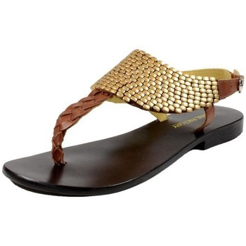 Chaussures Femme Tongs The Divine Factory Tong Marron