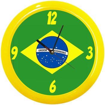 Maison & Déco Horloges Pays Du Monde Pendule ronde Brésil Cbkreation Multicolore