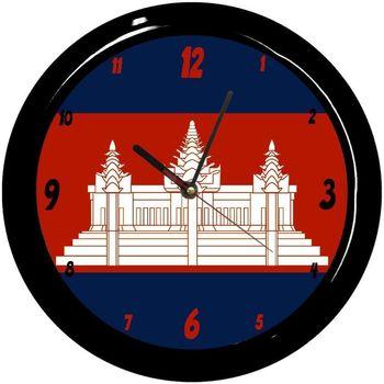 Maison & Déco Horloges Pays Du Monde Pendule ronde Cambodge Cbkreation Multicolore