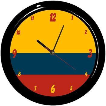 Maison & Déco Horloges Pays Du Monde Pendule ronde Colombie Cbkreation Multicolore
