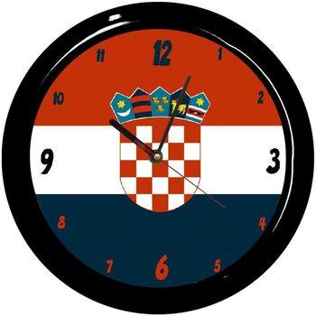 Maison & Déco Horloges Pays Du Monde Pendule ronde Croatie Cbkreation Multicolore