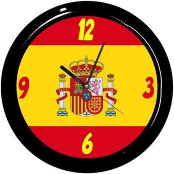Maison & Déco Horloges Pays Du Monde Pendule ronde Drapeau Espagnol par Cbkreation Multicolore