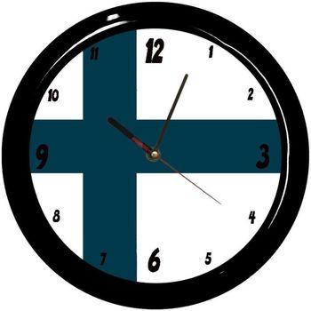 Maison & Déco Horloges Pays Du Monde Pendule ronde Finlande Cbkreation Bleu