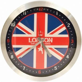 Maison & Déco Horloges Londres Pendule ronde Flag London Multicolore