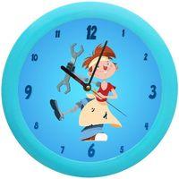 Maison & Déco Enfant Horloges Jo Pendule ronde Garçon robot Bleu
