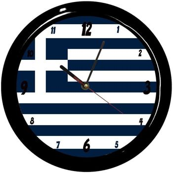 Maison & Déco Horloges Pays Du Monde Pendule ronde Grece Cbkreation Bleu