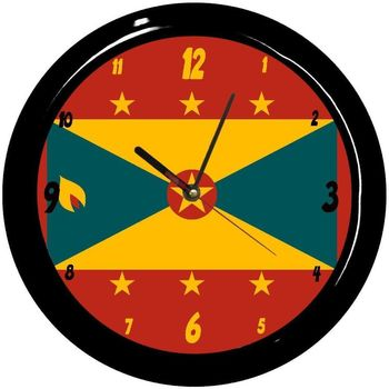 Maison & Déco Horloges Pays Du Monde Pendule ronde Grenade Cbkreation Multicolore