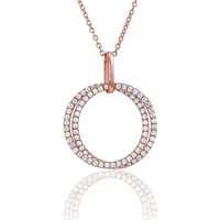 Montres & Bijoux Femme Colliers / Sautoirs Arbelo Collier  en Argent 925/1000 Rose et Oxyde Rose