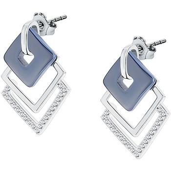 Montres & Bijoux Femme Boucles d'oreilles Bleue Joaillerie Boucles d'oreilles  en Argent 925/1000 Blanc