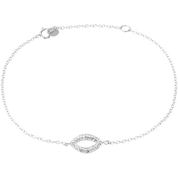 Montres & Bijoux Femme Bracelets Cleor Bracelet  en Argent 925/1000 Blanc et Cristal Blanc