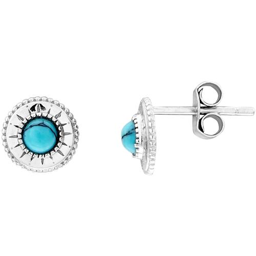 Montres & Bijoux Femme Boucles d'oreilles Tipy Boucles d'oreilles  en Argent 925/1000 Blanc et Oxyde Bleu Blanc