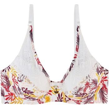 Sous-vêtements Femme Rembourrés Pommpoire Soutien-gorge ampliforme coque moulée multicolore Pile ou face Blanc