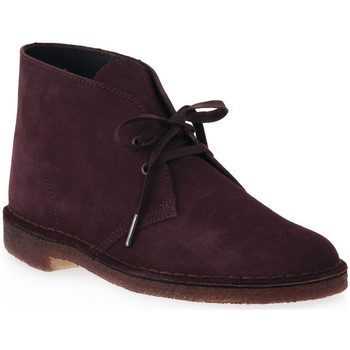 Chaussures Homme Boots Clarks DESERT BOOT BURGUNDY Rosso