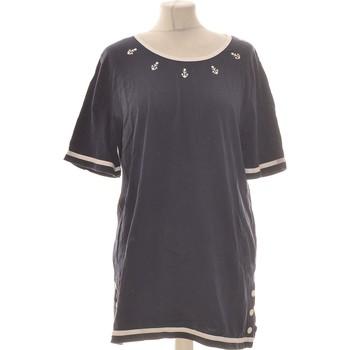 Vêtements Femme Tops / Blouses Damart Top Manches Courtes  40 - T3 - L Bleu