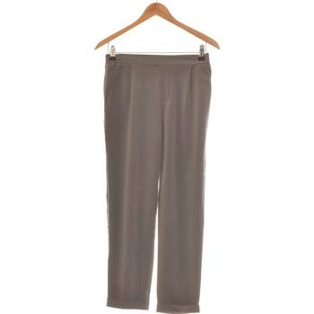 Vêtements Femme Pantalons Pull And Bear Pantalon Slim Femme  36 - T1 - S Gris