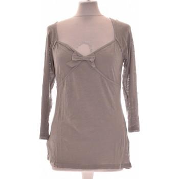 Vêtements Femme Tops / Blouses Naf Naf Top Manches Longues  40 - T3 - L Gris