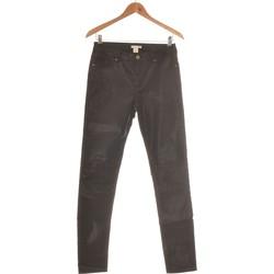 Vêtements Femme Jeans droit H&M Jean Droit Femme  38 - T2 - M Noir