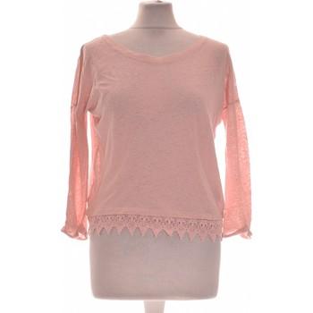 Vêtements Femme Tops / Blouses Etam Top Manches Longues  34 - T0 - Xs Rose