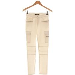 Vêtements Femme Jeans droit Mango Jean Droit Femme  34 - T0 - Xs Blanc