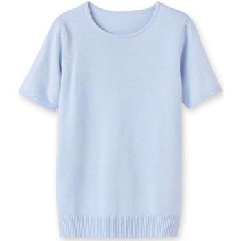 Vêtements Femme Pulls Kocoon Pull encolure ronde manches courtes ciel