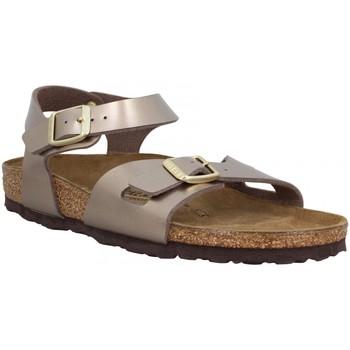 Chaussures Fille Milano Kids Bf Desert Soil Birkenstock Rio Electric Metallic Taupe Marron