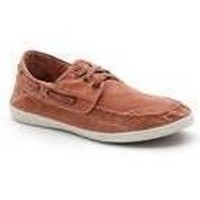 Chaussures Baskets mode Natural World 303E - Toile Bateau Homme ROUGE