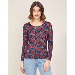 Vêtements Femme T-shirts manches longues La Fiancee Du Mekong T-shirt imprimé col rond MISAWA Rouge groseille