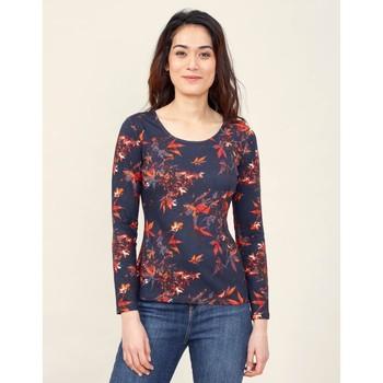 Vêtements Femme T-shirts manches longues La Fiancee Du Mekong T-shirt imprimé col rond MISAWA Bleu violet